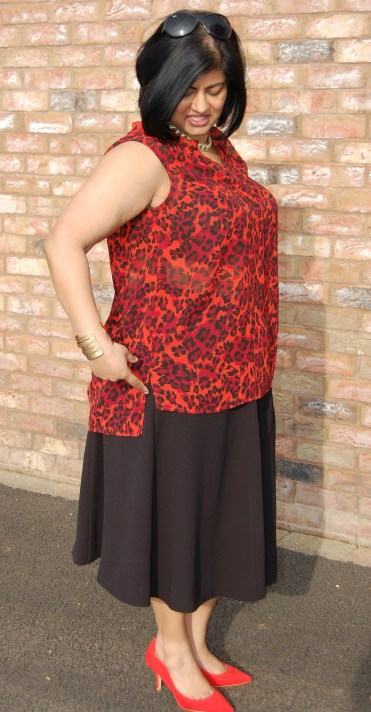 McCalls 7248 animal print tunic top and Butterick 6179 triple crepe culottes