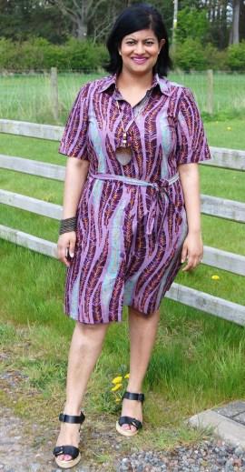 Simplicity 8014: DIY Vlisco African Wax Print Button Down Shirt Dress