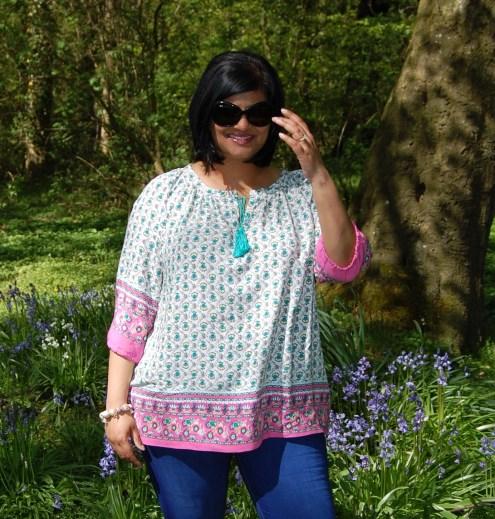 Pauline Alice Eliana Dress Hack to Peasant/ Boho Tassel Top
