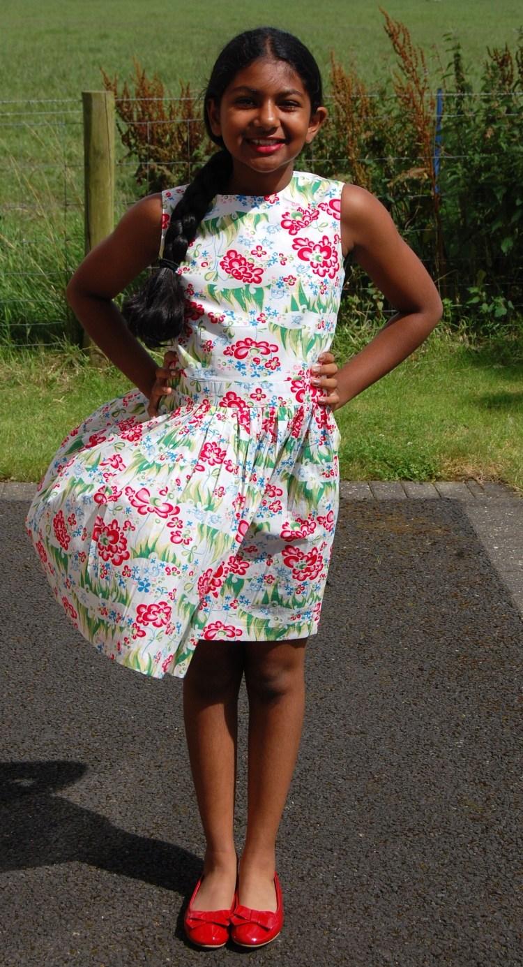 80e563083c65 New Look 6388  DIY Girls Cotton Lawn Summer Dress – sewmanju