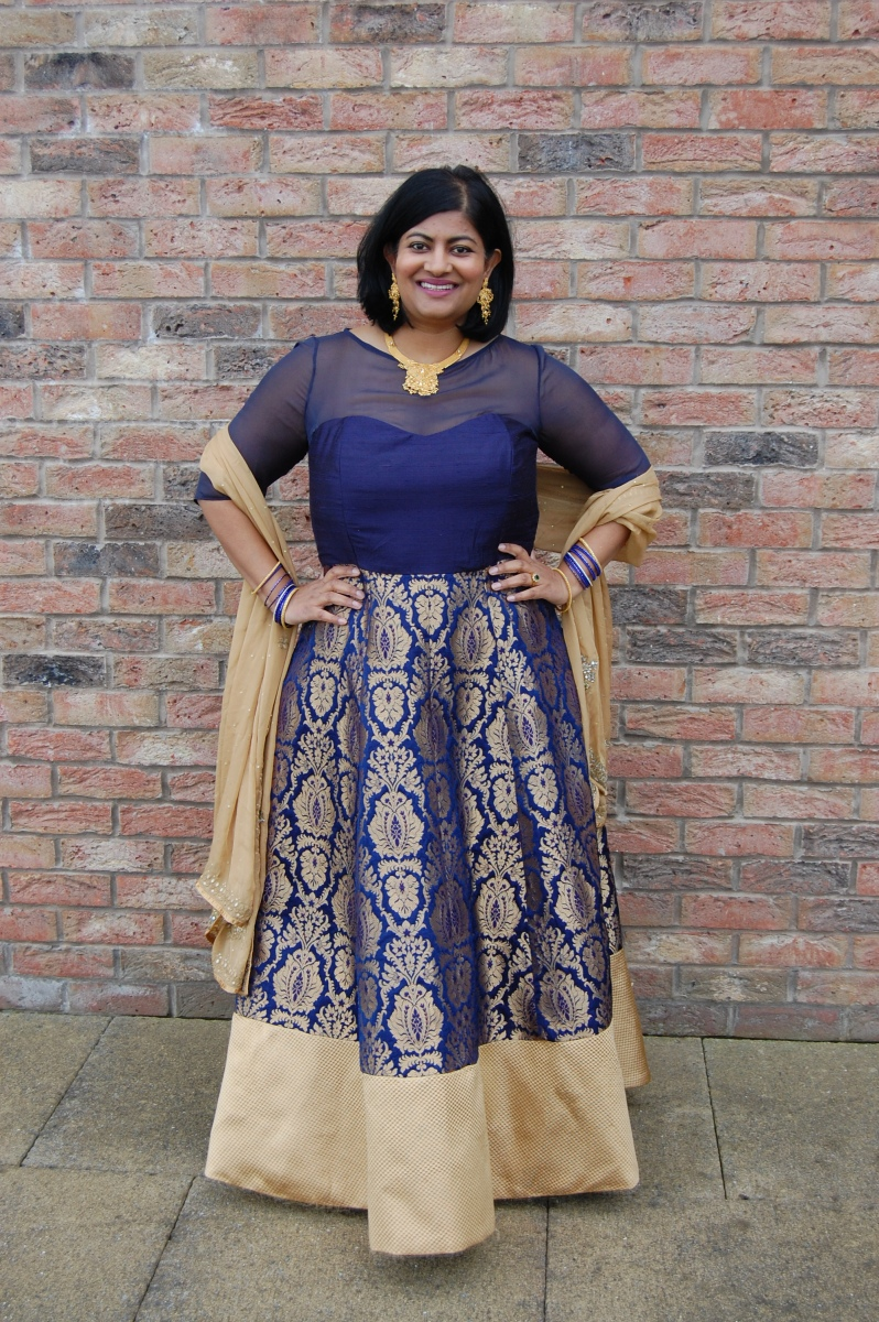 OOP Vogue 8849 and Butterick 6179: DIY Indian Lengha Gown
