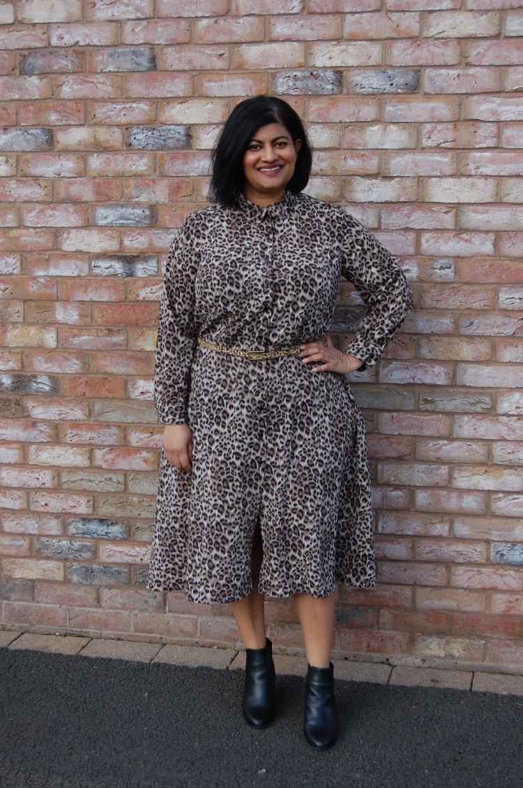 f195605406af Simplicity 8014: DIY Animal Print Crepe Shirt Dress – sewmanju