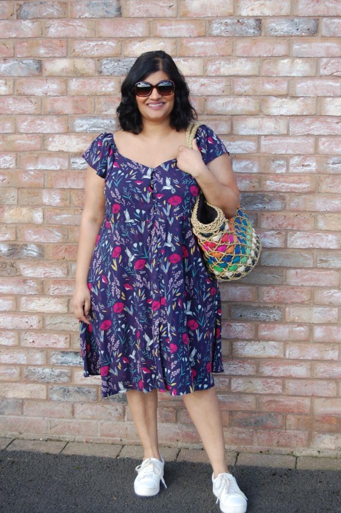 McCalls 7902 flutter sleeve sweetheart neckline button front summer dress