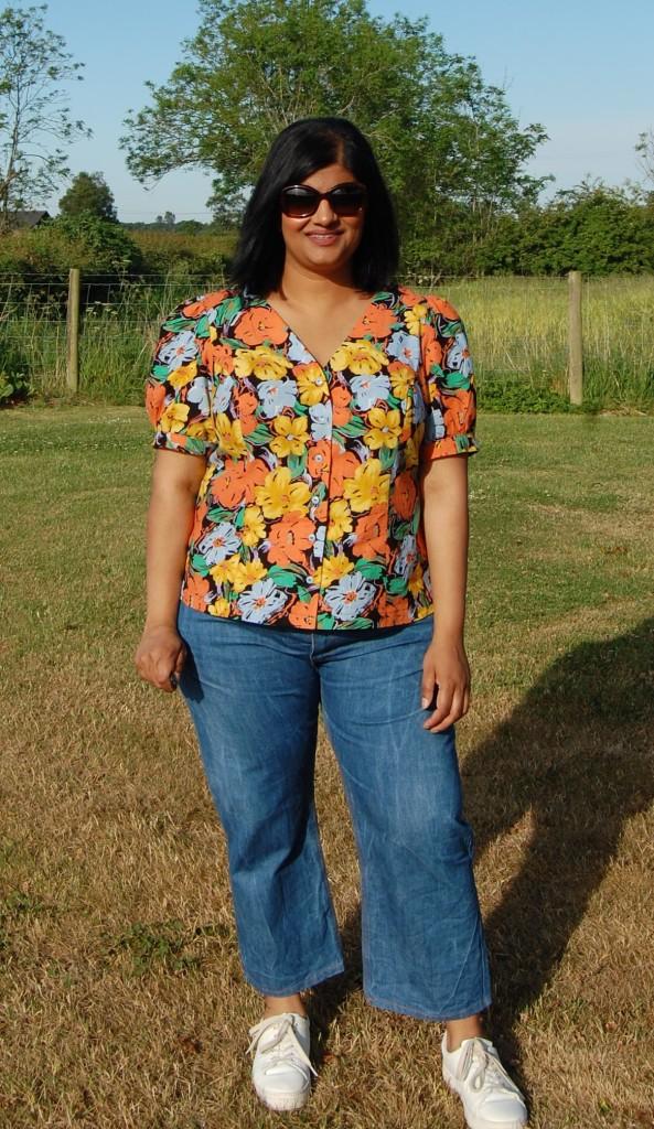 McCalls 8040 #emmie blouse worn with Megan Nielsen dawn jeans