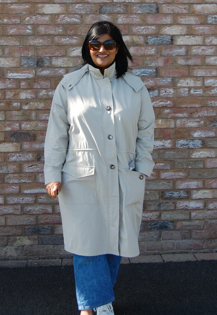 Simplicity 9052 Mimi G Style pattern: showerproof unisex utility jacket with fishtail style hem
